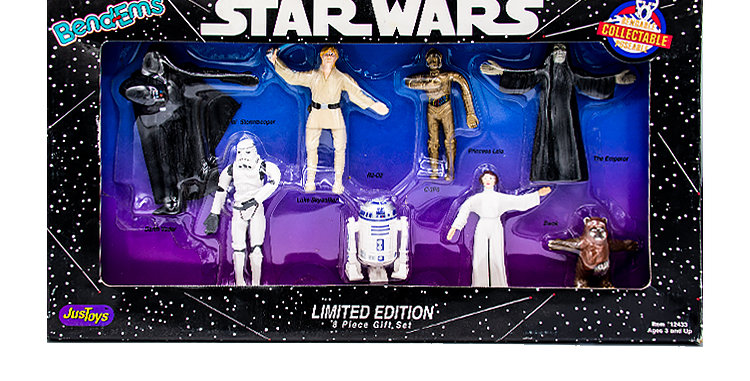 Star Wars 3.75 Inch Just Toys Bendems 8 Piece Gift Set