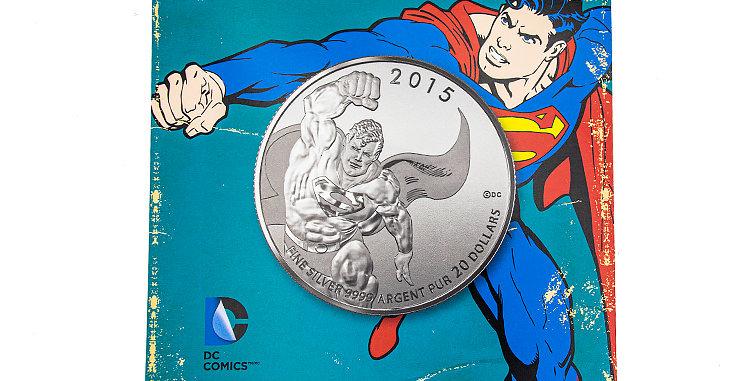 Coin Canada Superman Silver 20.00 Coin