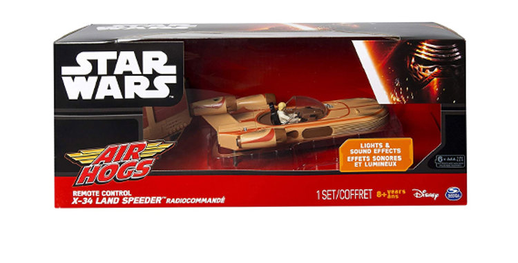 Air Hogs RC Remote Control Land Speeder  W/LukeLights and Sounds
