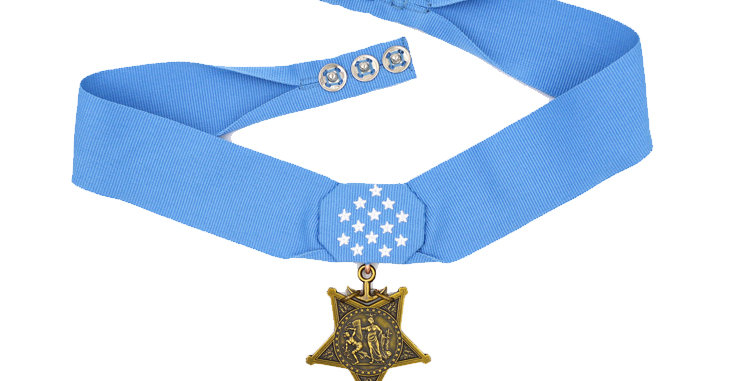 copy of Museum Quality US Navy Medal of Honor Replica.