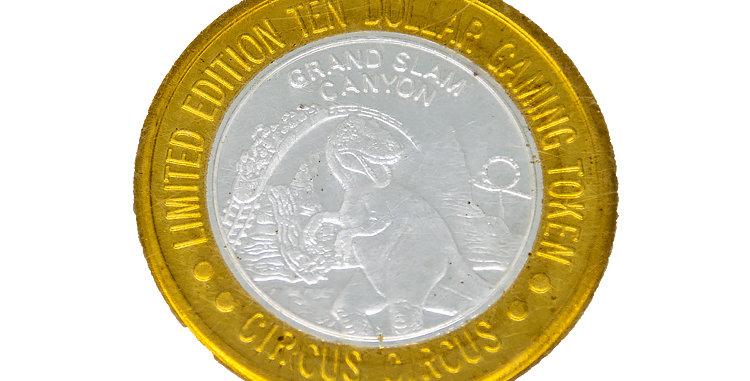 Coin Circus Circus Silver 10 Dollar Gambling Coin