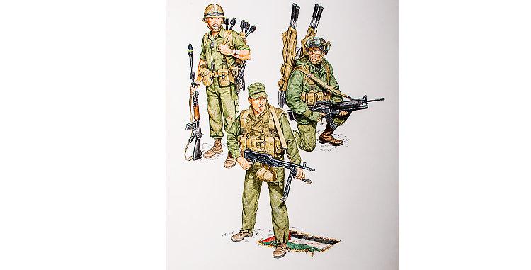 Original Military Art by Ron Volstad