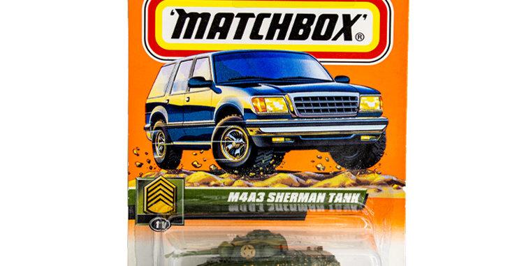 Matchbox Cars Sherman Tank Marked 1999