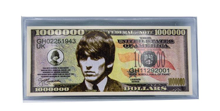 George Harrision  Novelty Million Dollar  Bill