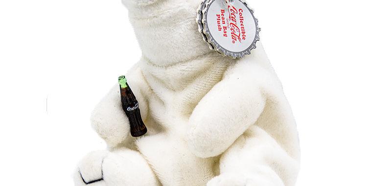 Coca Cola Coke Bear Girl with Green Ribbon