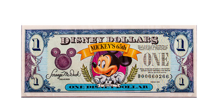 Disney Dollar Circa 1992