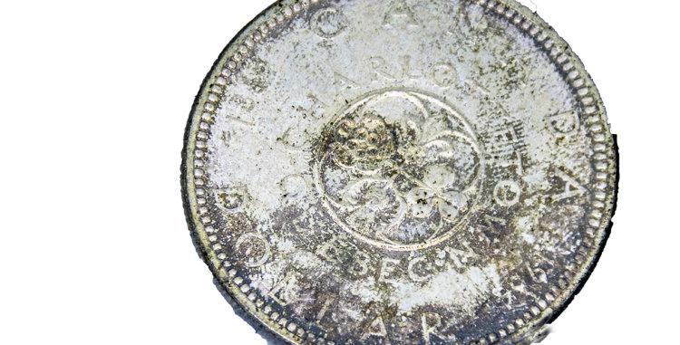 Canada Silver Charlotte dollar 1964