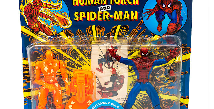Marvel Spiderman and Human Torch Playset