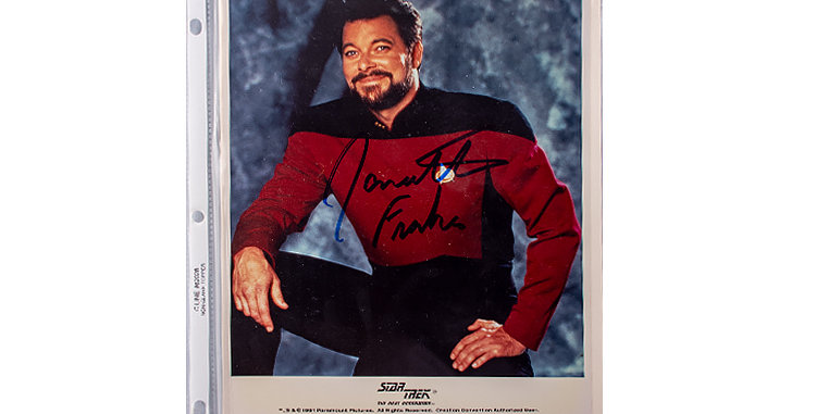 Autograph of Jonathan Frakes who played William T. Riker