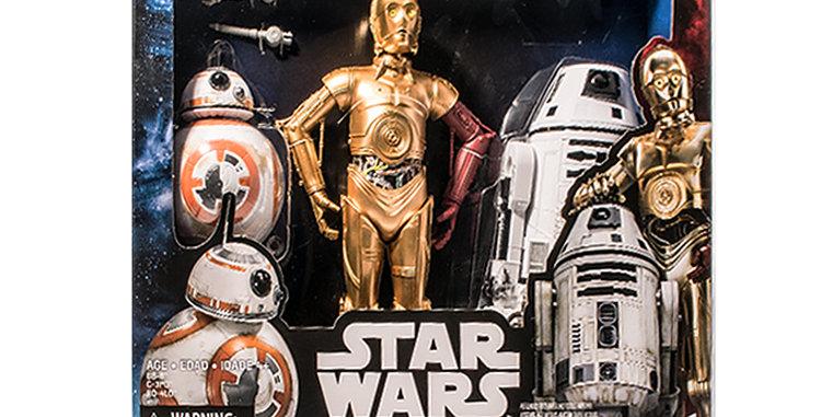 Star Wars 12 Inch 3 Droids BB8 , C3P0, R0-4L0 The Force Awakens