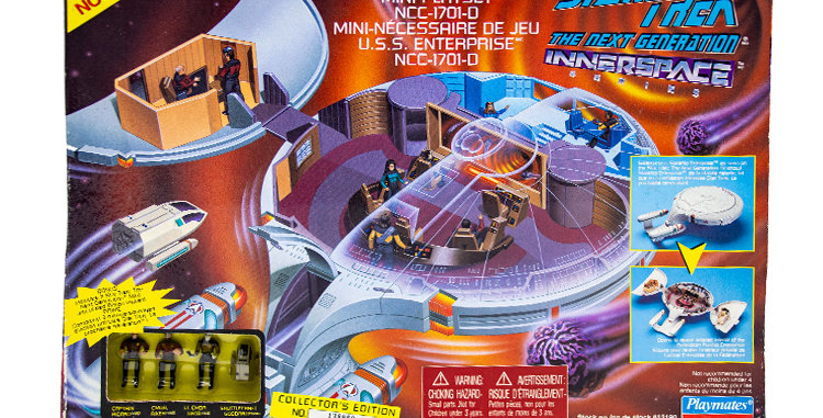 Star Trek Inner Space Enterprise Playmates Toy