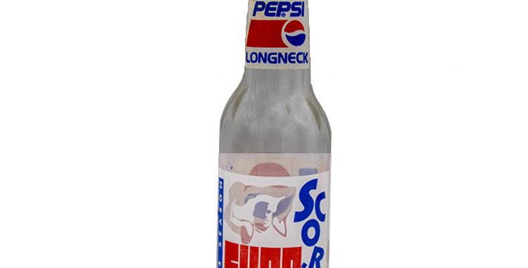 Pepsi Shaq Glass Bottle Titled  Scorin