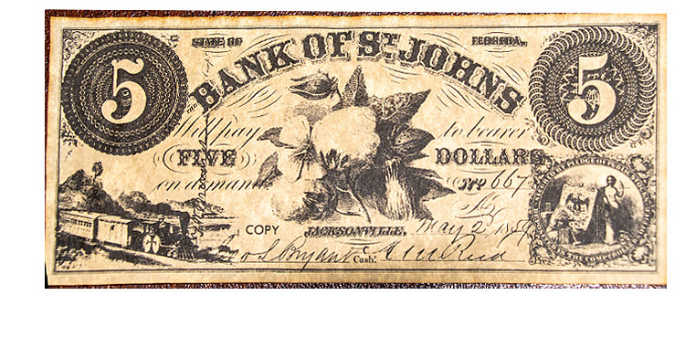 Bank of St Johns 5 Dollars Note Replica