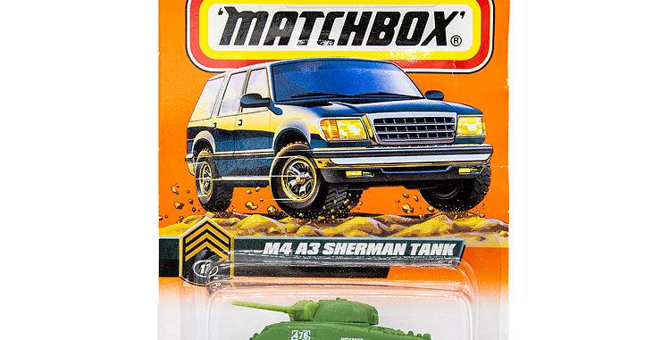 Matchbox Cars Sherman Tank Marked 1998