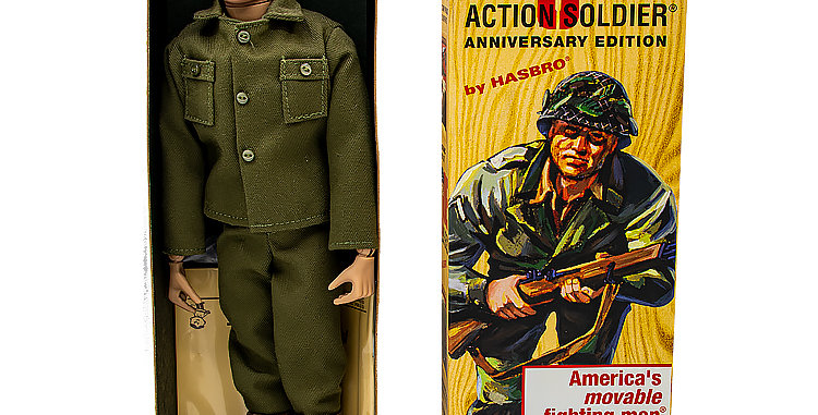 GI Joe Anniversary  Edition Repro 12 Inch Action Soldier Long  Box