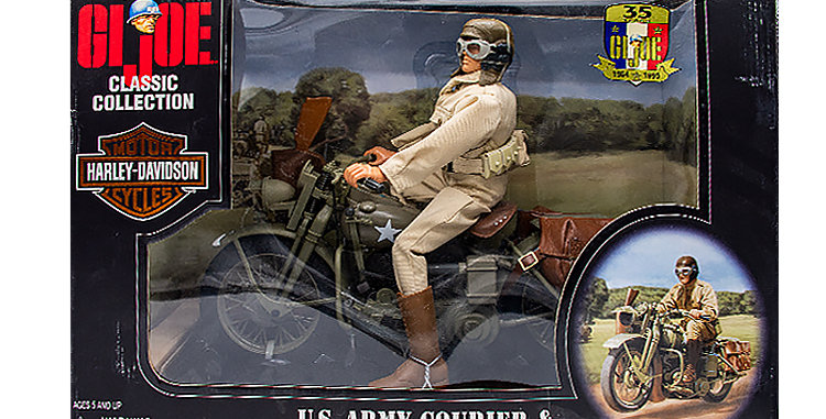 GI Joe Classic Collection WWII US Army Courier and WLA Harley-Davidson