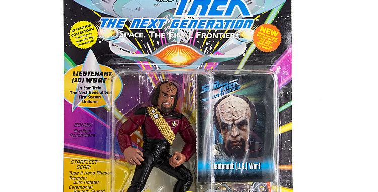 Star Trek Action Figure Worf in Starfleet Uniform Playmates Toy