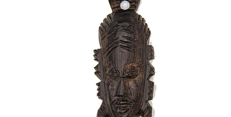Native Mask Wood Small Pendant Ornament