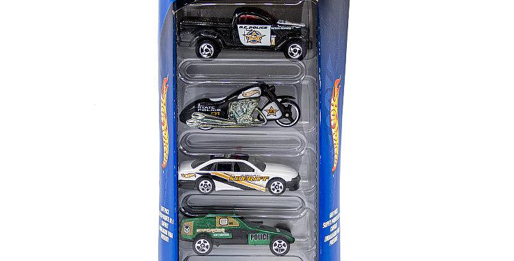 Hot Wheels 5 Car Set Police