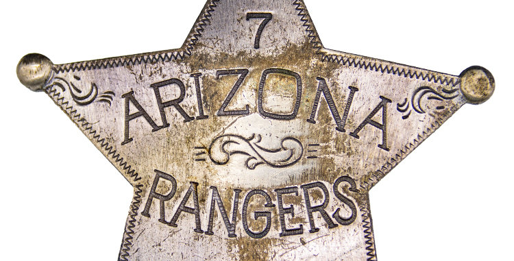 Militaria Badge Old West Replica Arizona Rangers