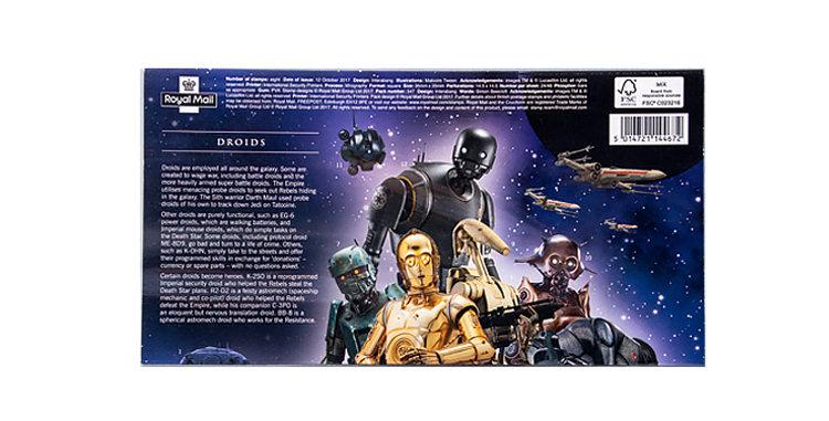 Stamps Star Wars  8 Stamp Sheet Royal Mail UK England Version B