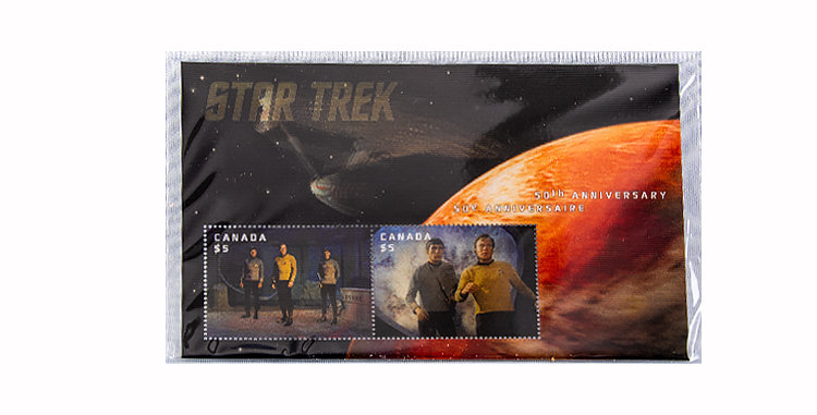 Canada Post Star Trek Stamps set of 7 First Day Covers
