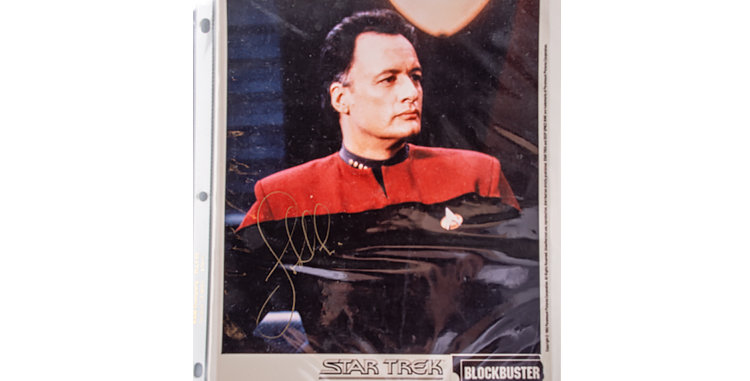 Autograph of John de Lancie who Played Q