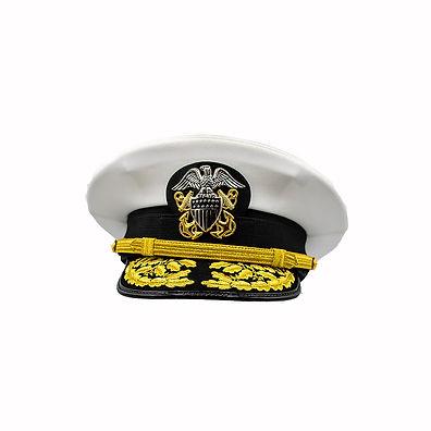 Peak Cap US Navy  Dress Whites Admiral 1