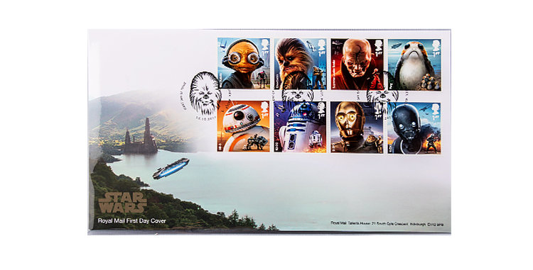 Stamps Star Wars   First Day Cover 8 Stamps Set Royal Mail UK England