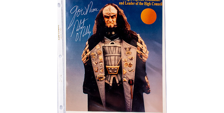 Autograph of Robert O'Reilly who played Gowron