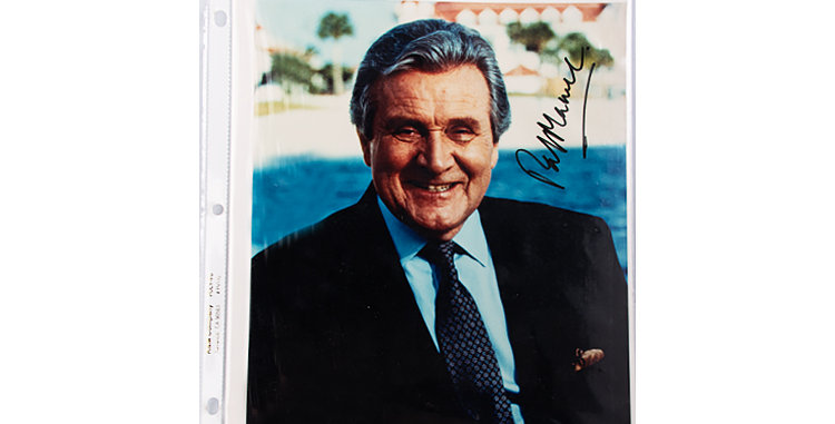 Autograph of Patrick MacNee who played John Steed