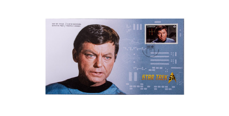 Stamp Canada Post Star Trek First Day Cover Dr. McCoy