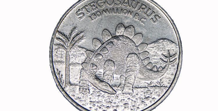 Aluminium Dinosuar Coin