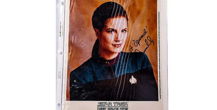 Autograph of Terry Farrell who played Jadzia Dax of Star Trek