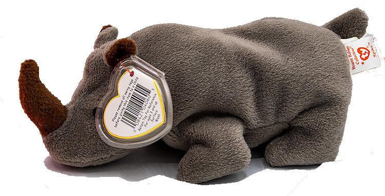Beanie Babies Spike the Rhino Beanie Baby