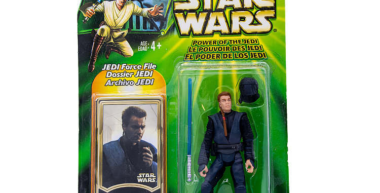 Star Wars 3.75 Inch Carded Obi Wan Young Power of the Jedi