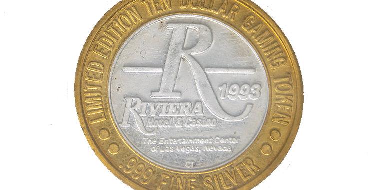 Coin Rivera Silver 10 Dollar Gambling Coin