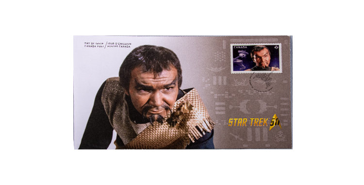 Stamp Canada Post Star Trek First Day Cover Klingon