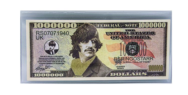 Ringo Starr Novelty Million Dollar  Bill