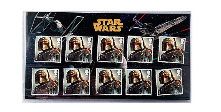 Stamps Star Wars  Bobba Fett  Royal Mail UK England