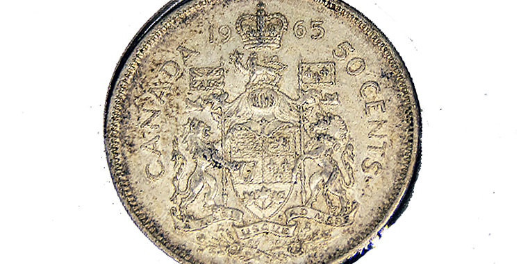 Coin Canada1965 50 Cent Piece