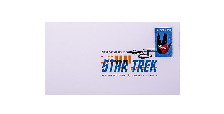 Stamps USPS Stamp Star Trek  First Day of Issue