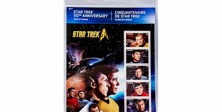 Canada Post Book of 5 Star Trek Stamps