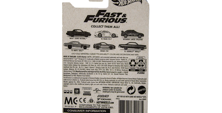 Hot Wheels Fast and Furious Monte Carlo