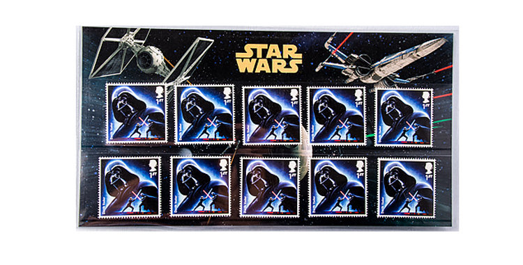 Stamps Star Wars  Darth Vader  Royal Mail UK England