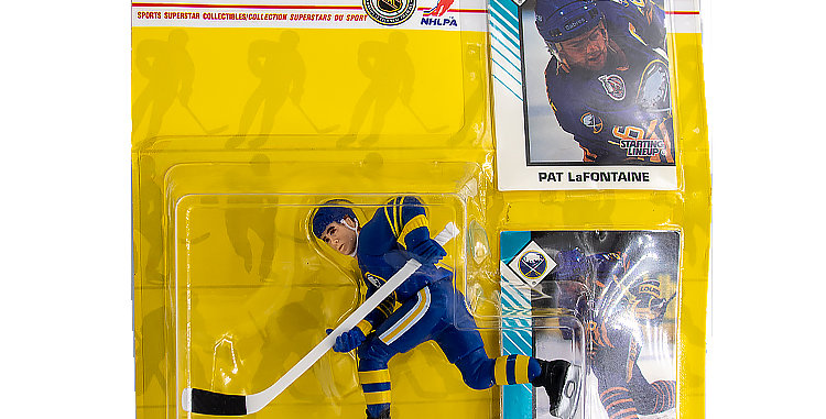 Sports Hockey Pat LaFontaine Action FIgure Damaged Package