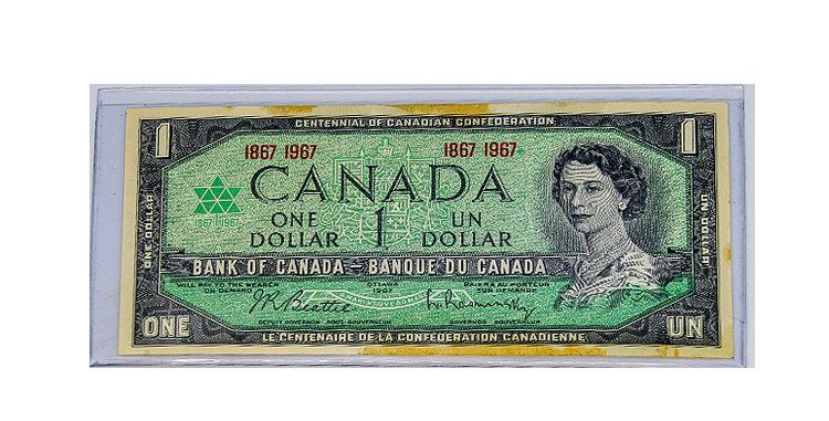 Canada 1967 Dollar Bill