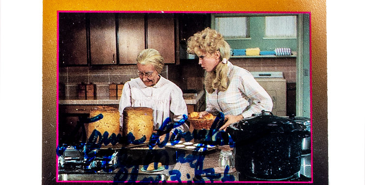 Autograph Donna Douglas who Played Eli May Clampett