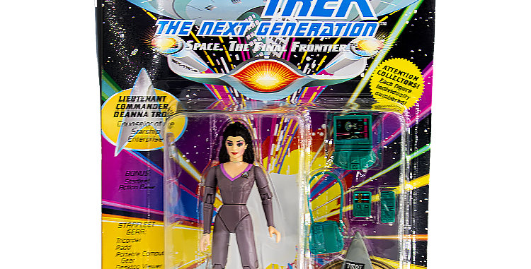 Star Trek Action Figure Deanna Troi US Card Playmates Toy