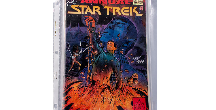 Autograph of Leonard Nimoy who played Spock in Star Trek